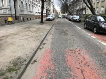 ul. Małachowskiego - ulica przed remontem