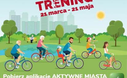 Grupa rowerzystów jadących na rowerach.