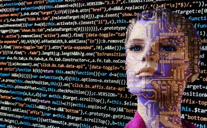 Język kodowania i wizerunek dziecka w tle