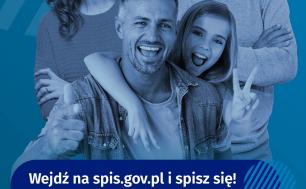 Plakat Głównego Urzędu Statystycznego i Narodowego Spisu Powszechnego 2021