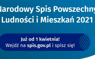 Na zdjęciu widzimy grafikę zachęcającą do uczestnictwa w spisie powszechnym na stronie spis.gov.pl