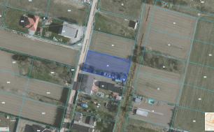 Mapka z zaznaczoną działką przy ul. Niemena w Słupsku