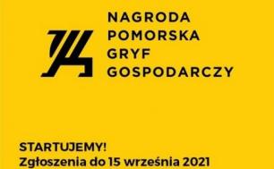 logo konkursu czarny napis na żółtym tle