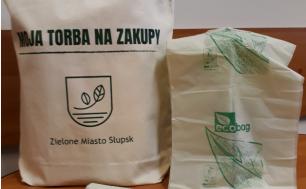 Torba ekologiczna na zakupy z napisem Zielone Miasto Słupsk